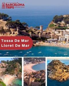 Tossa De Mar and Lloret De Mar